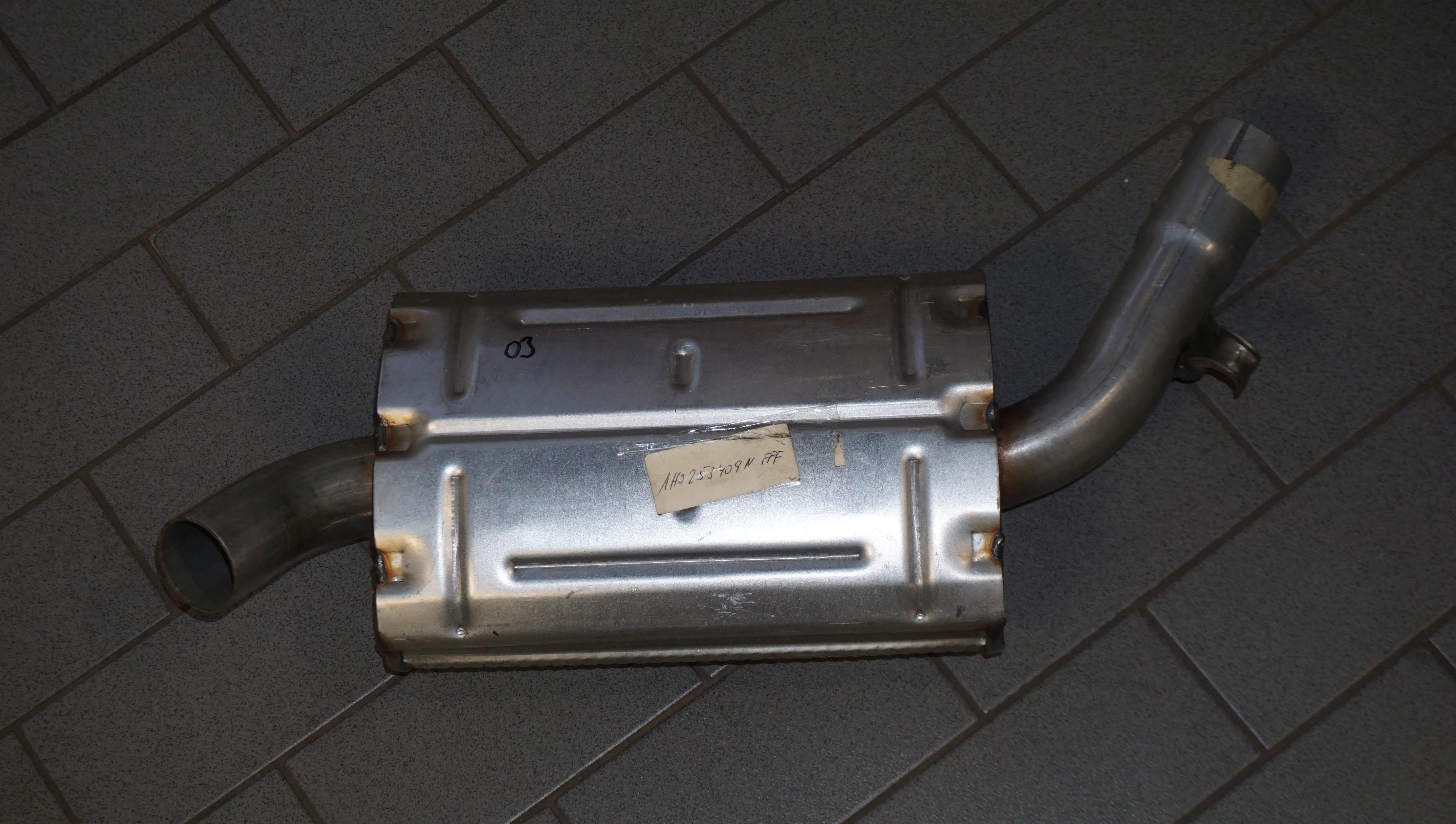1H0 253 409 N Mittelschalldämpfer für VW Golf